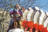 Native American on a Float in Macy's 50th Annual Thanksgiving Parade in New York City Photographic Print