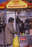 Hot Dog Cart, NY City, NY Photographic Print
