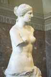 Statue of Venus De Milo (Aphrodite), Greece, Ca. 150-125 BC at the Louvre Museum, Paris, France Photographic Print