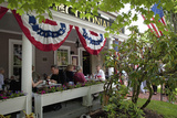 People Lunching at the Historic Colonial Inn, Concord, Ma, Memorial Day, 2011 Photographic Print