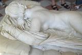 Sculpture of Hermaphrodite at the Louvre Museum, Paris, France Photographic Print