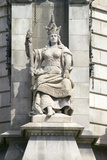 Statue of Queen Isabella, a Supporter of Christopher Columbus, Barcelona, Spain Photographic Print