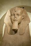 Egyptian Sculpture at the Louvre Museum, Paris, France Photographic Print
