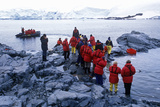 Ecological Tourists Landing at Paradise Harbor, Antarctica Photographic Print