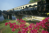 Bridge over River Kwai, Kanchanaburi, Erawan National Park, Thailand Photographic Print