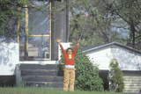 An African-American Girl Holding an America Flag, Mn Photographic Print