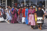 Procession of Costumed Navajo Schoolchildren, Blanding Elementary School, Ut Photographic Print