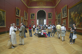European Gallery in the Louvre Museum, Paris, France Photographic Print