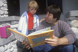 A Father Reading with His Daughter, NY Photographic Print