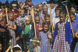Group of Children at Hutterian Brethren Church, Norfold, CT Photographic Print