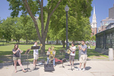 Brass Quintet Performs in Boston Common, Boston, Ma., USA Photographic Print