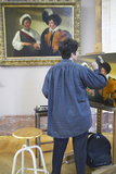 Artist Copying a Master Painting at the Louvre Museum, Paris, France Photographic Print