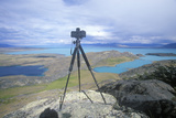 Tripod and Camera on Hill Top Near El Calafate, Patagonia, Argentina Photographic Print