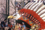 Native American Float in Macy's 50th Annual Thanksgiving Parade in New York, New York Photographic Print