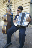 Street Musicians Outside the Palace of the Popes, Avignon, France Photographic Print