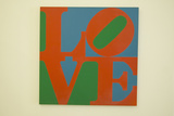 The Museum of Modern and Contemporary Art of Nice, Painting by Robert Indiana, Nice, France Photographic Print