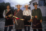 Four Men from Tibet in Dali, Yunnan Province, People's Republic of China Photographic Print