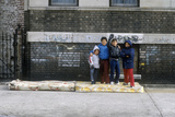 Group of Young Children in Urban Ghetto, Bronx, NY Photographic Print