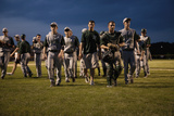 High School Baseball Features Nashoba Chieftans Playing a Nightgame in Western Ma Outside of Boston Photographic Print