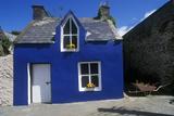 Bright Blue House in Ardgroom Village, Cork, Ireland Photographic Print