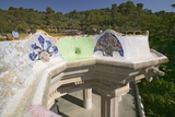 Magical Homes of Antoni Gaudi's Parc Guell, Barcelona, Spain Photographic Print