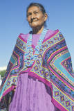 Native American Navajo Woman in Colorful Beads and Shawl, Los Angeles, CA Photographic Print