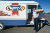 A Bread Delivery Man on His Route, Walsenberg, CO Photographic Print