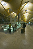 Travelers on Moving Sidewalk at Madrid Barajas Airport (Mad), Spain's Busiest Airport Photographic Print
