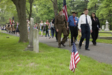 Historic Lexington Cemetery on Memorial Day, 2011 Where Veterans Honor Fallen Soldiers, MA Photographic Print