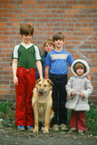Children with their Dog Photographic Print