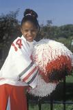 An African-American Cheerleader Photographic Print