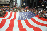 An Oversized American Flag Being Carried for Desert Storm Parade, Ny City Fotodruck