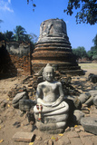 Wat Chang Lom Ancient Buddhist Temple at Sri Satchanaiai Historical Park, Thailand Photographic Print
