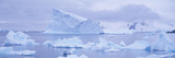 Panoramic View of Glaciers and Icebergs in Paradise Harbor, Antarctica Photographic Print