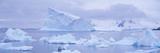 Panoramic View of Glaciers and Icebergs in Paradise Harbor, Antarctica Photographic Print