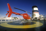 Helicopter on Landing Pad of Cruise Ship Marco Polo, Antarctica Photographic Print
