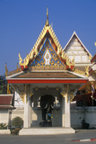 Buddhist Temple in Bangkok, Thailand Photographic Print