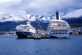 Cruise Ship Deutsch Princess at Dock, Ushuaia, Southern Argentina Photographic Print