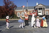 Children in Halloween Costume at School Crossing, Webster Groves, MO Photographic Print