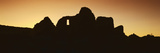 Panoramic View of Chaco Canyon Indian Ruins at Sunset, Northwestern NM Photographic Print