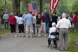Memorial Day, 2011, Citizens Honor the Fallen Soldiers Outside of Lexington, Ma Near Boston Photographic Print