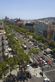 Aerial View of Passeig De Gràcia Street in the Eixample District, Barcelona, Spain, Europe Photographic Print