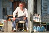 An Elderly Man on His Front Porch, Appalachia, VA Photographic Print
