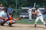 A Little League Baseball Player Batting, Hebron, CT Photographic Print