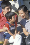 An Asian-American Family, Little Tokyo, Los Angeles, CA Photographic Print