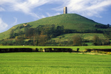 Glastonbury Tor, a Sacred Site Along the English Countryside in Glastonbury, England Photographic Print