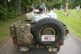 Antique WWII Jeep and Veterands Participate in Memorial Day Parade, 2011 Outside of Concord, MA Photographic Print