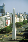 The Obelisk on Avenida 9 De Julio, Buenos Aires, Argentina Photographic Print