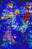 Stained Glass Window with Design by Marc Chagall, Marc Chagall Museum, Nice, France Photographic Print