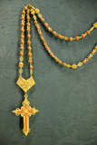 A Close Up of Golden Rosary That Pope Owned in the Sevilla Cathedral, Southern Spain Photographic Print